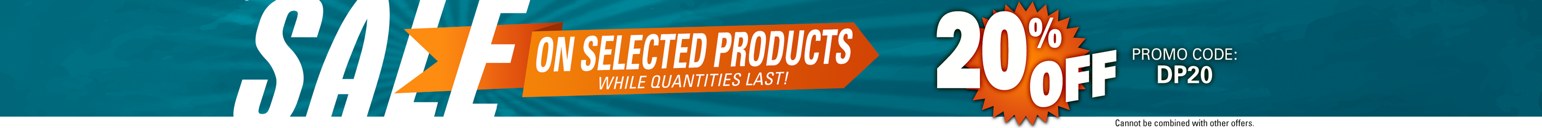 20% Off Select Products