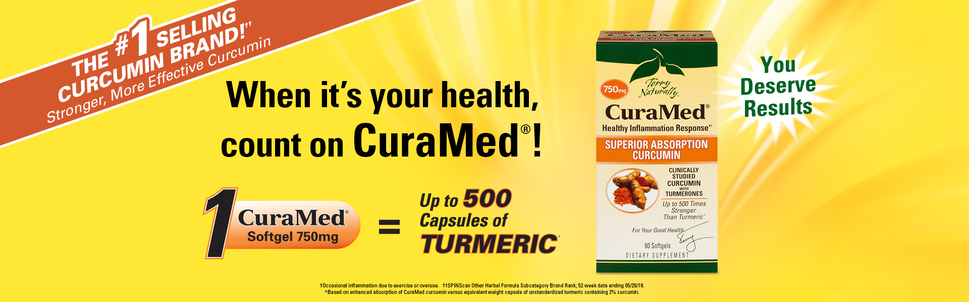 When it's your healthy, count on CuraMed®!