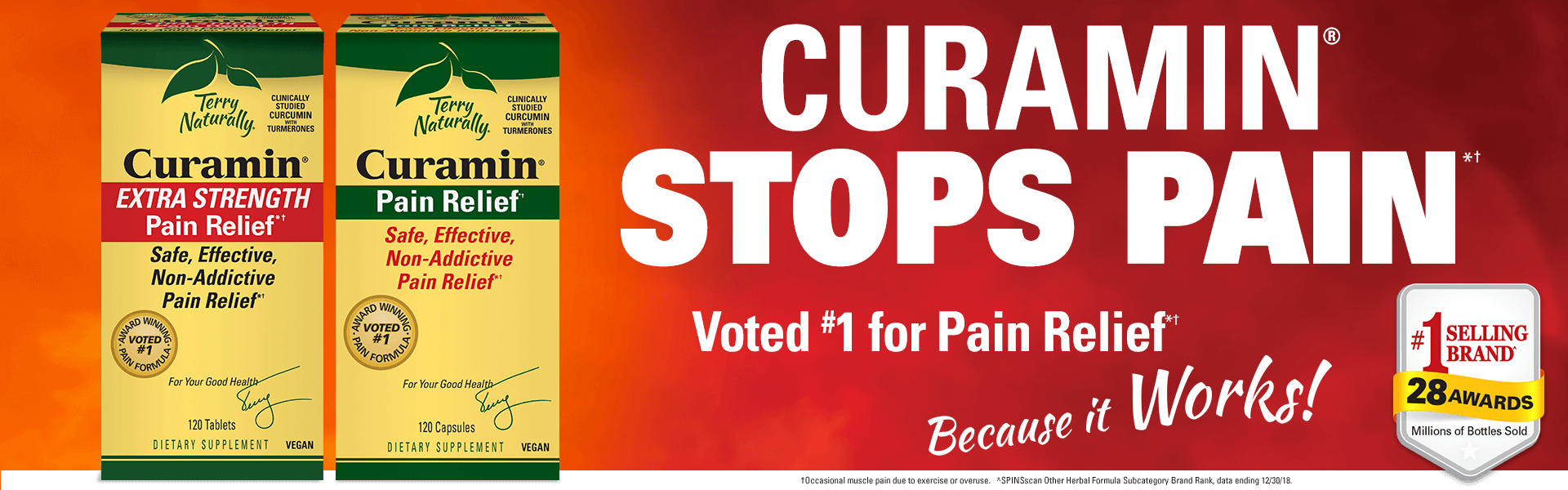 Curamin® STOPS PAIN*† • Voted #1 Pain Relief*†