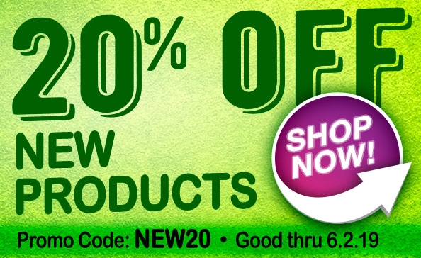 20% off NEW Products