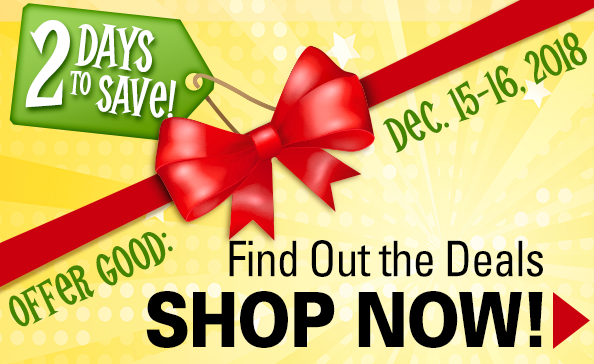 2 Days to Save!