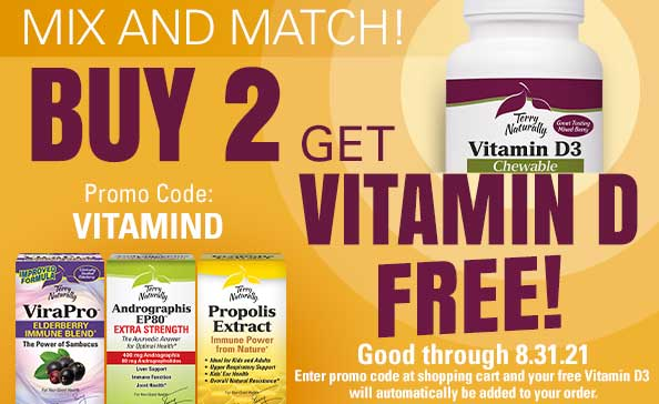 Mix and Match • BUY 2 GET VITAMIN D FREE!