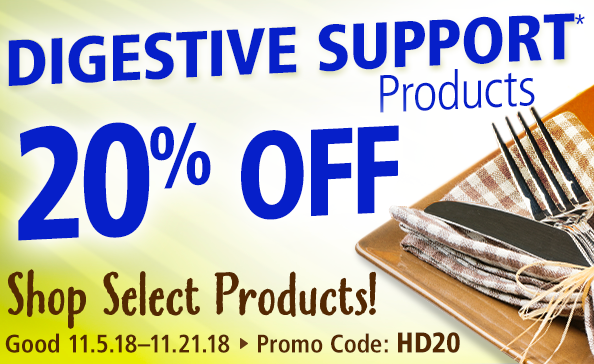 20% off digestive support products