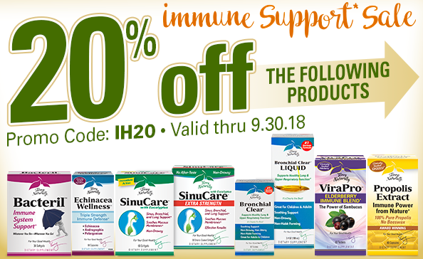 Immune Health Sale | 20% Off Select Products | Terry Naturally Vitamins
