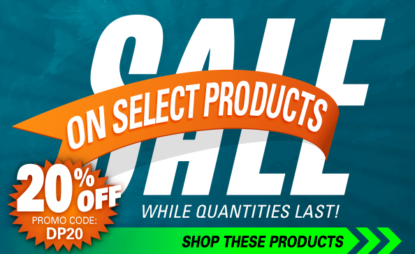 SALE on select products – 20% off – promo code: DP20