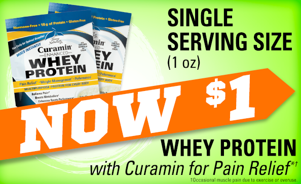 Curamin® Whey Protein • NOW $1
