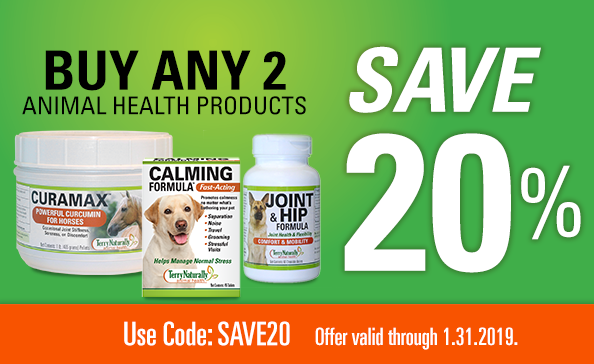 SALE on animal health products – 20% off – promo code: SAVE20
