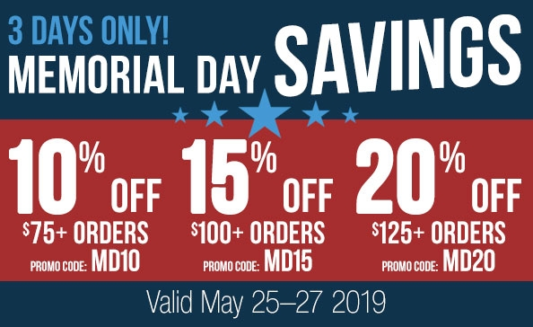Memorial Day SAVINGS