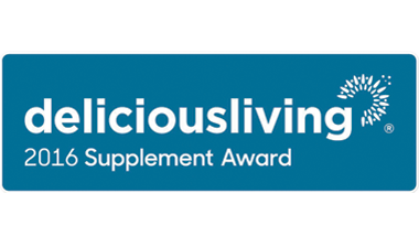 Delicious Living BEST SUPPLEMENT Award Winner 2016