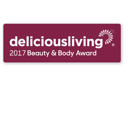 Delicious Living BEAUTY & BODY Award Winner 2017