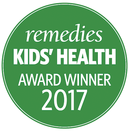 Kids Health Award Winner 2017  •  Remedies magazine Calm & Focus category