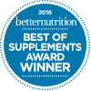 2016 Best of Supplements Award from Better Nutrition Magazine
