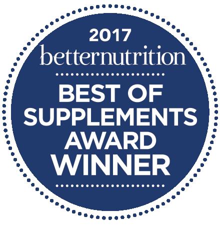2017 Better Nutrition Best of Supplements Award