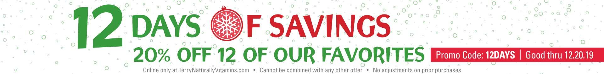 12 Days of Savings