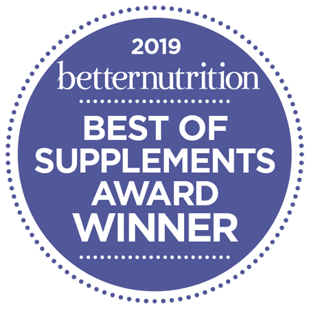 Better Nutrition Best of Supplements Award for 2019 in the Bone, Joint & Pain Relief Category