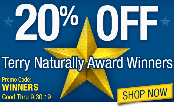 20% Off Terry Naturally Award Winners