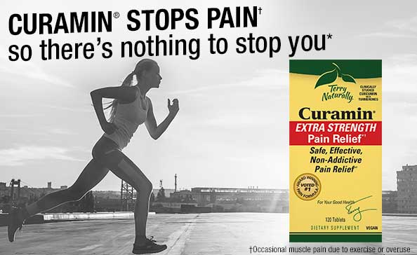 CURAMIN® STOPS PAIN† so there's nothing to stop you*