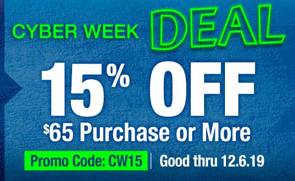 Cyber Week Deal – 15% off $65 purchase or more, Promo Code CW15, Offer good thru 12.6.19, online only at TerryNaturallyVitamins.com