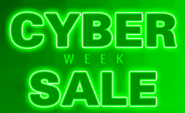 Cyber sale week 15% off a $75 purchase