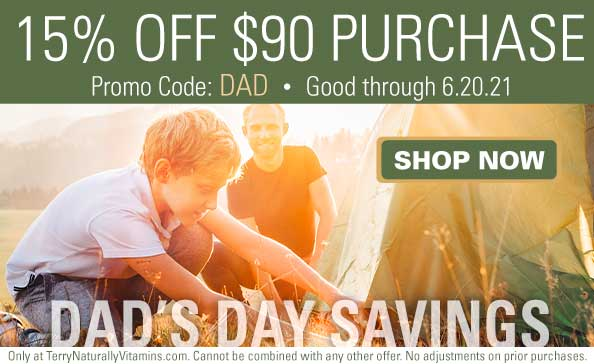 15% OFF $90 PURCHASE • Promo Code: DAD