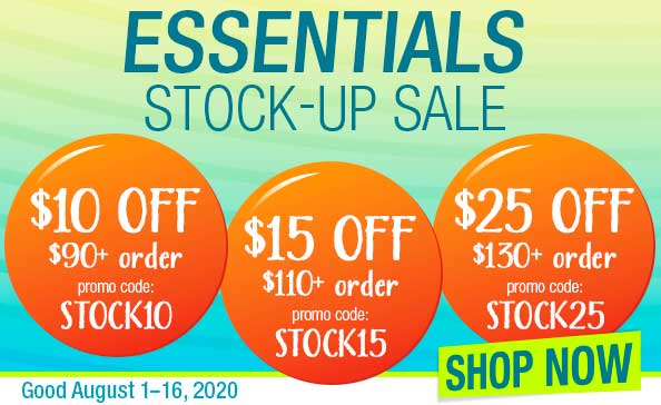 ESSENTIALS STOCK-UP SALE • SHOP NOW