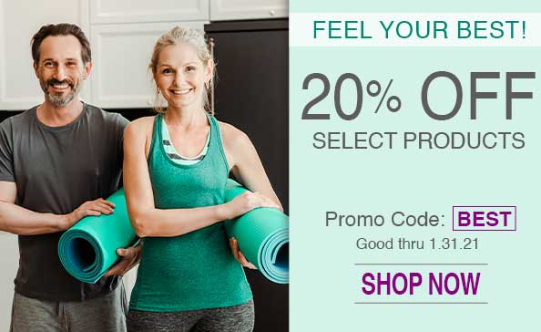 Feel your best. 20% off select products.