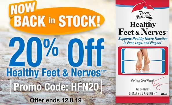 20% OFF Healthy Feet & Nerves  • Promo Code: HFN20