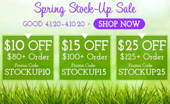 Spring Stock-Up Sale • Good 4.1.20–4.10.20