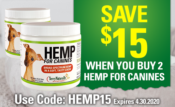 Save $15 When You Buy 2 HEMP FOR CANINES