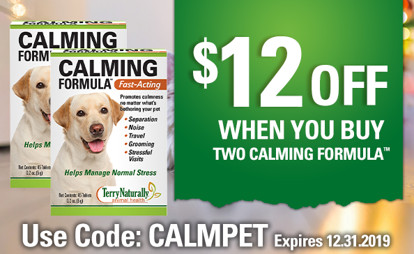 $12 OFF When You Buy 2 CALMING FORMULA™  •  Use code: CALMPET